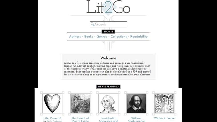Lit2Goサイト画面