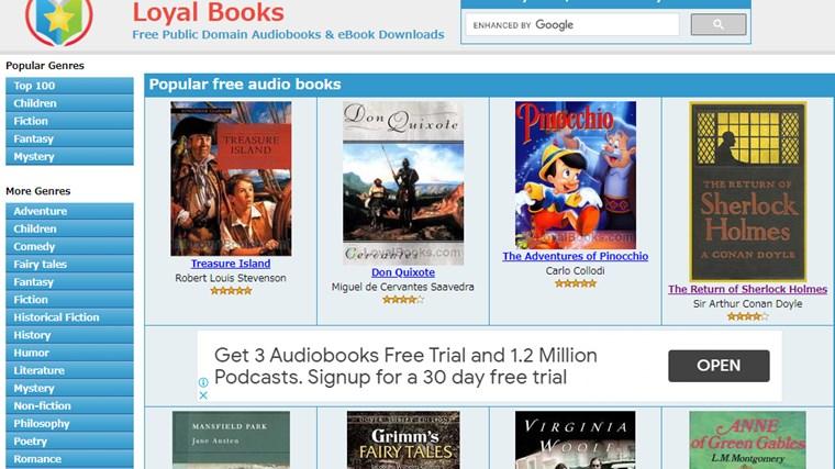 Loyal Booksサイト画面