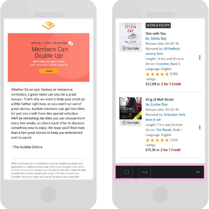 audible.com(US) 2 in one deals
