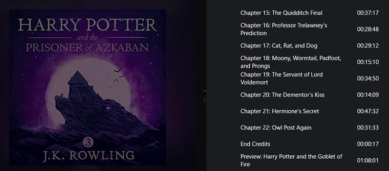 『ハリーポッターとアズカバンの囚人』英語版オーディオブックの中身(目次)