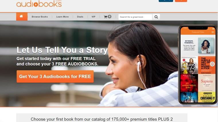 audiobooks.comサイト画面