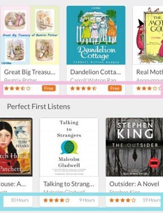 audiobooks.comアプリの画面