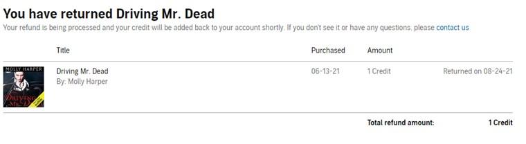 米国Audibleセールで買ったオーディオブックの返品