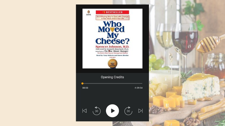my audiobook - who moved my cheese?