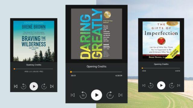 brene brown - my 3 audiobooks