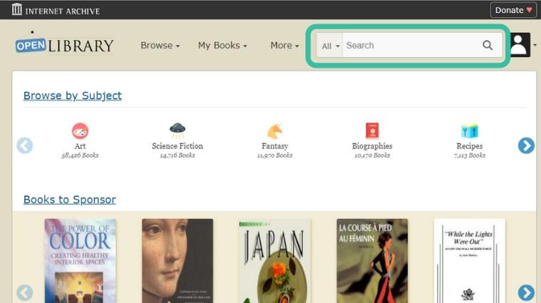 Open Library 本の検索方法