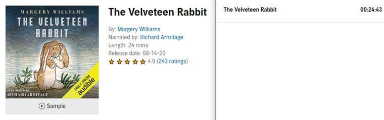 【Audible Plus】(米国で聴き放題)The Velveteen Rabbit
