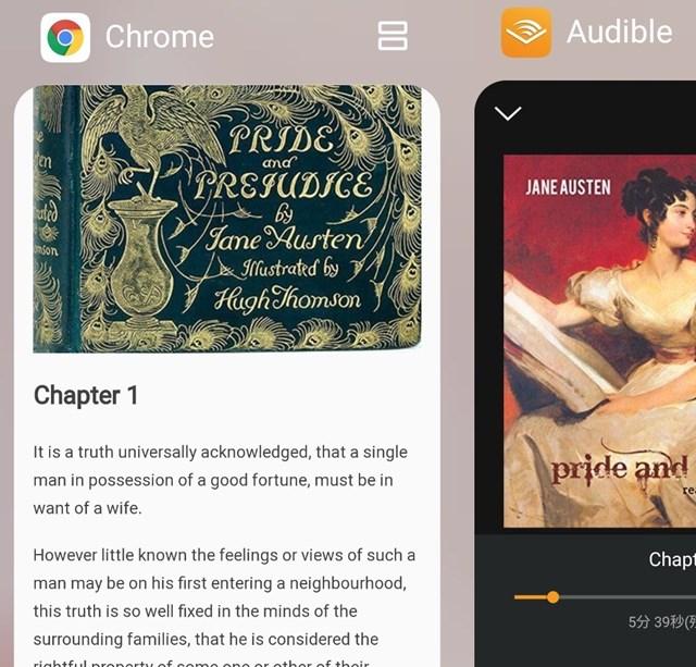 Gutenbergを読みながらAudibleでオーディオブックを聴く