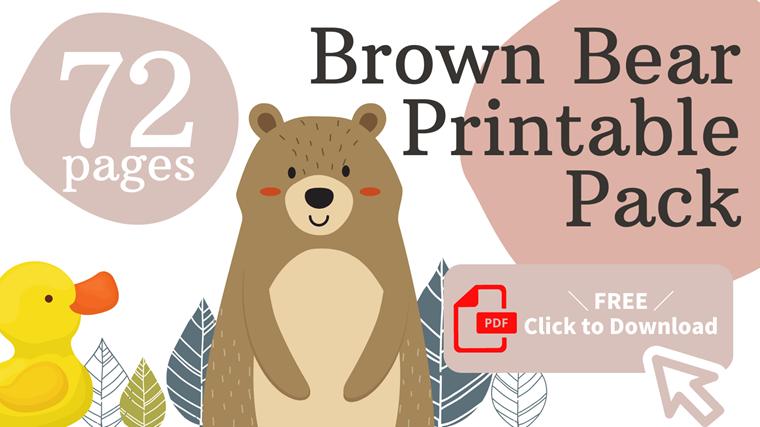 Brown Bear Free Printable Pack