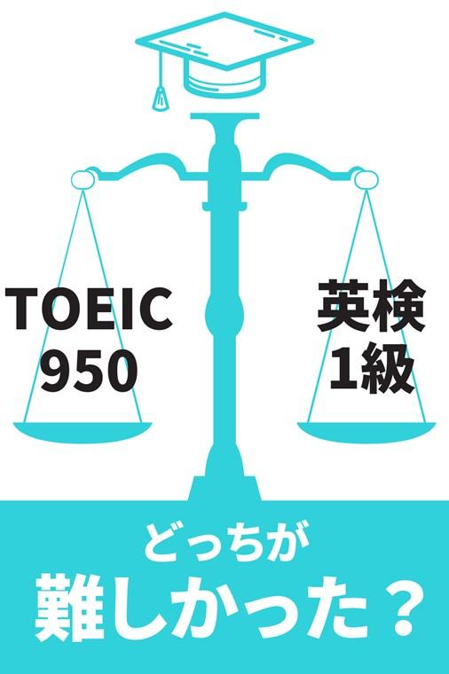 TOEIC950超えと英検1級どっちが難易度が高い?
