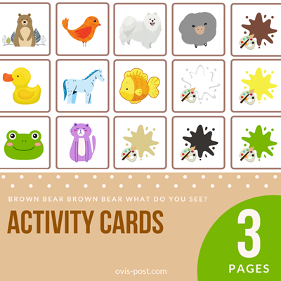 Activity Cards - Brown bear brown bear what do you see? - FREE PRINTABLES