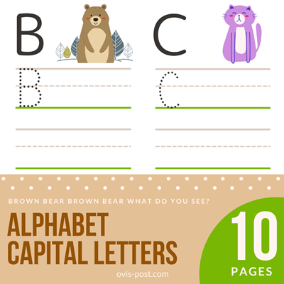 Alphabet Capital Letters - Brown bear brown bear what do you see? - FREE PRINTABLES