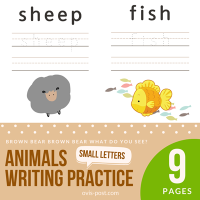 animals writing practicehandwriting practice sheets 3 lines - Brown bear brown bear what do you see? - FREE PRINTABLES