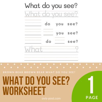 worksheet - Brown bear brown bear what do you see? - FREE PRINTABLES