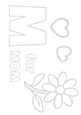 Happy Mother's Day - Coloring
