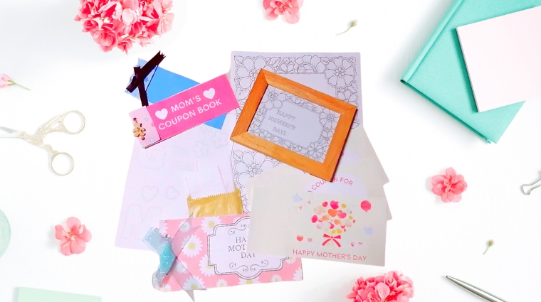 mother's day diy card sample